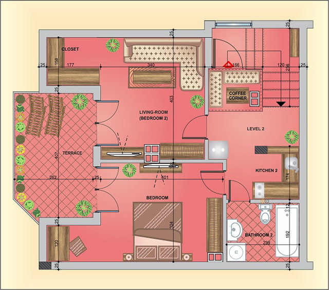 One bedroom apartment, 77 sq.m., Varna, Top center/ RENT, Two rooms ...